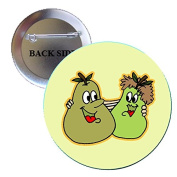 Adorable Couple Pears Pinback Button Brooch 3.2cm