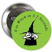 Witch Halloween Pinback Button Brooch 3.2cm
