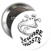 Beware Ghost Halloween Party Pinback Button Brooch 3.2cm
