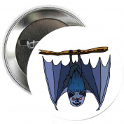 Bat Wings Halloween Party Pinback Button Brooch 3.2cm