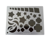 "Cabtopia -- Lapidary Jewellery Design Template Stencil ""Lucky"""