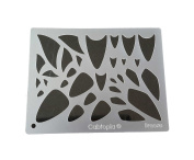 "Cabtopia -- Lapidary Jewellery Design Template Stencil ""Breeze"""