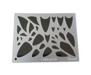 "Cabtopia -- Lapidary Jewellery Design Template Stencil ""Breeze"""