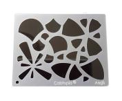 "Cabtopia -- Lapidary Jewellery Design Template Stencil ""Aegis"""