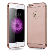 iPhone 7 Plus,Inspirationc Ultra-thin 3 in 1 Anti-Scratch Anti-fingerprint Shockproof Resist Cracking Electroplate Metal Texture Armour PC Hard Back Case Cover for iPhone 7 Plus 5.5 Inch--Rose Gold