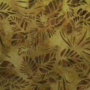 Japanese Wrapping Cloth 46cm - 1.9cm , Furoshiki Bag - Large Brown Leaves Batik