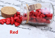 MDLG Vintage 90pcs Red Heart Shape Bottled Glass for Wax Seal Sealing Stamp Wedding Invitations Adhesive Wax Sticks Beads