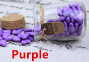 MDLG Vintage 90pcs Purple Heart Shape Bottled Glass for Wax Seal Sealing Stamp Wedding Invitations Adhesive Wax Sticks Beads