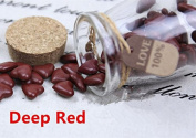MDLG Vintage 90pcs Deep Red Heart Shape Bottled Glass for Wax Seal Sealing Stamp Wedding Invitations Adhesive Wax Sticks Beads