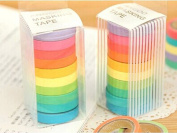 B & Y Colourful Washi Decorative Masking Tape Set 10 Rolls