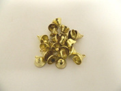 Lot of 50pcs SMALL Bells 11MM Craft Jingle Bell Christmas Bow Embellishment Ornament GOLD LIBERTY Metal for Crafting or Decoration-Tree Christmas Decorating Supplies, Designed Making Craft Bell Charms Finding