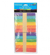 Natural Coloured Craft Sticks 100ct, Case of 48