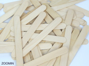 3 X Natural Jumbo Wood Craft Sticks - 100 pcs.