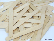 2 X Natural Jumbo Wood Craft Sticks - 100 pcs