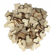 ROSENICE Wood Log Slices Heart Discs for DIY Crafts Wedding Mini Wooden Slices Craft