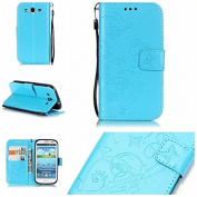 Galaxy S3 Case, ARSUE Premium Vintage Emboss Butterfly Flower PU Leather Wallet Case with Card Slots & Stand Flip Cover for Samsung Galaxy S3 S III I9300