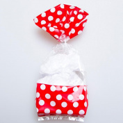Red Window Polka Dot Cellophane Bags