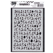 Carabelle TE60048 Stencil Mask A6 Numbers