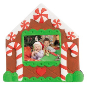 Clay Christmas Picture Frame DIY Painted White Paint Clay Picture Holder Pack of 4