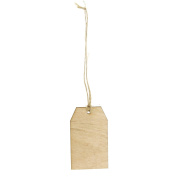 Laser Cut Hanging Wooden Tags, 7.6cm , 6-pack