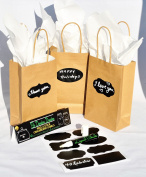 Paper Gift Bag with 40 Chalk Labels and 1 Liquid Chalk Marker Bundle