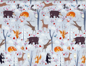 Roger la Borde Frosty Friends Reversible Rolled Gift Wrapping Paper 2 Sheets 48cm x 70cm