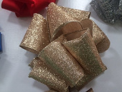 Gold Sparkle Decorative Ribbon 6.4cm X 46m - Perfect for Christmas!