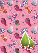 Trolls 2 Sheets Of Gift Wrap And 2 Gift Tags