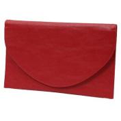 Envelope Clutch Purse Bag Cranberry