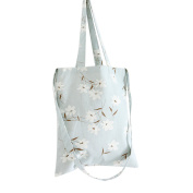 Flowertree Women's Narcissus Convertible Canvas Tote Bag Blue