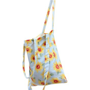 Flowertree Women's Sunflower Pattern Convertible Canvas Tote Bag