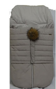 Cosy Coop Puffer Baby Bunting, Heather Grey