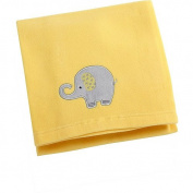 Little Bedding by Nojo Elephant Time Fleece Blanket, Yellow