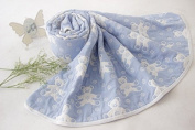 Riho Baby 100% Muslin Cotton Gauze No Formaldehyde No Phosphor Bath Towel Swaddle Blanket(5 layers)