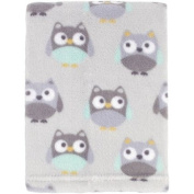100% Polyester Printed Blanket for Baby and Toddler, Owl All Over Design, 80cm x 90cm