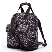 HC Travel Bag Lightweight Fabric Baby Nappy Backpack For Mom Black Nappy Backpack Handbag