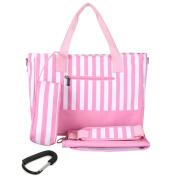 [with extra BIG Stroller Clips] Tooline Nappy Bag Messenger with Changing Pad, Bottle Bag, Widen Shoulder Strap,4 Colours