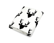Olli & Lime Deer Crib Sheet, Black/White