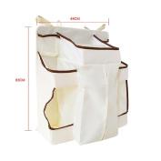 iHome & iLife Baby Nursery Organiser - Hanging Nappy Bag Baby Crib Storage Bag for Baby's Essential