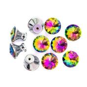AMA(TM) 10PCS 30mm Diamond Crystal Glass Cupboard Wardrobe Cabinet Dresser Drawer Knobs Door Pull Handle