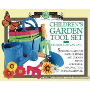 Children's Educational Fun Way Garden Tool Set in a Sturdy Canvas Bag