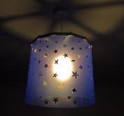 Blue Stars Lampshade + EREKI Magnetic Set (More Colours Available) changing the light shade is easy, quick and safe using magnetic attraction, perfect for nursery, baby shower, newborn, kids