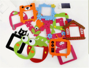 5PCS/lot Cute cartoon felt hollow out switch Stickers wall stickers Switch Cover Protected Stickers Home Decoration