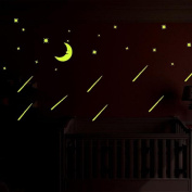 Kemilove A Set Kids Bedroom Fluorescent Glow In The Dark Stars Wall Stickers