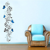 Butterfly Flowers Quote Wall Sticker Art Mural Decor Removable Vinyl Wall Decal