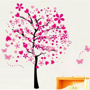Peach blossom large flower tree Wall decal Removable stickers decor kids nursery