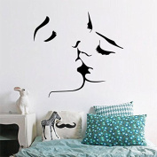 Romantic Lover Kiss Mural Removable Wall Sticker Art Vinyl Decal Home Room Decor