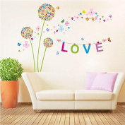 Love Dandelion Flowers Wall Stickers Wallpaper Decor Art Decal Home Bedroom