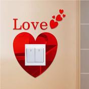 LOVE Mirror Light Lamp Switch Wall Art Decal Sticker Mural Decor