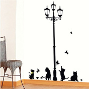 Light Cats Wall Sticker Removable DIY Vinyl Mural Art Room Decor Home Decal